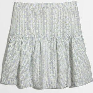 NEW J. Crew Seersucker Eyelet Skirt Size 10NWT for sale